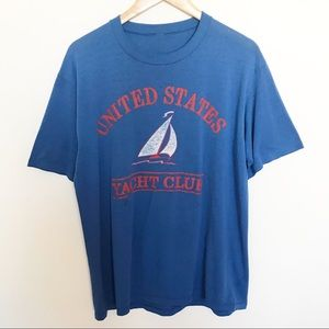 Vintage 80s single stitch USA yacht club t-shirt L
